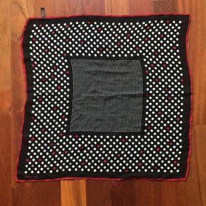 """Harold's 100% Silk Polka Dot Scarf, 20"""" Square"""